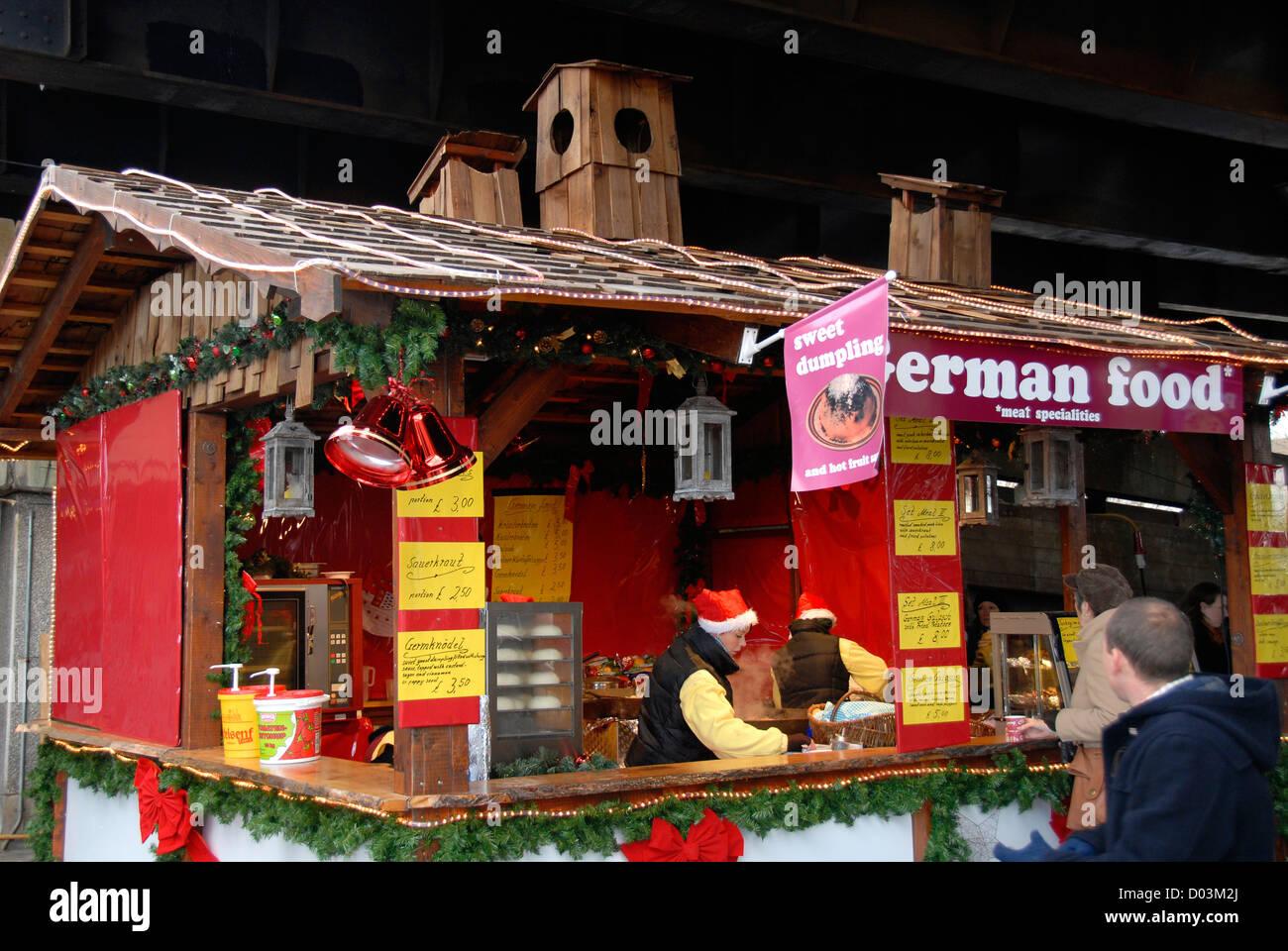 Christmas market, South Bank, London, England, United Kingdom, Europe - Stock Image