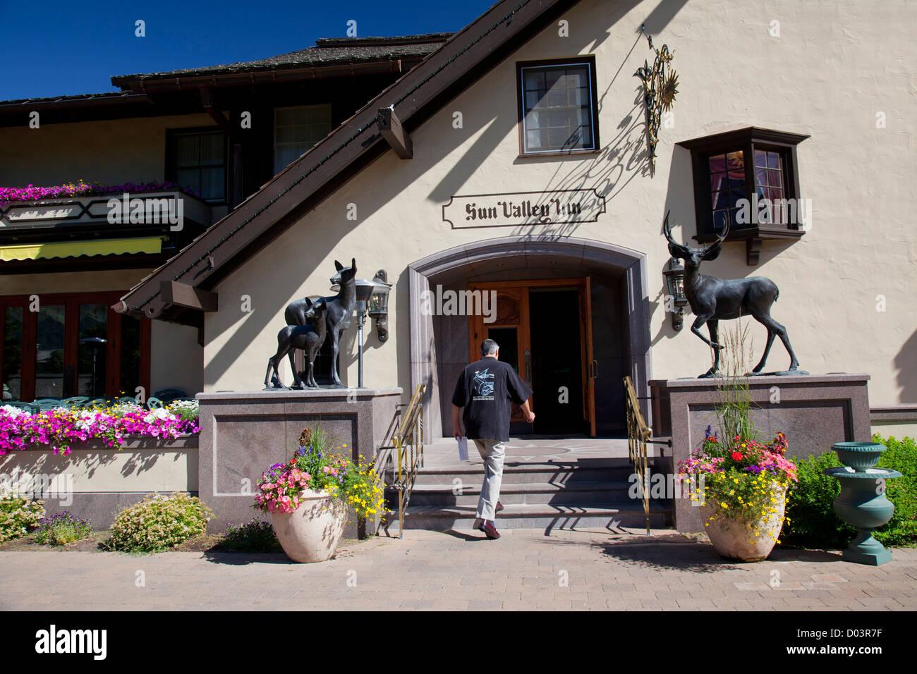 Idaho, Sun Valley Resort, Sun Valley Inn - Stock Image