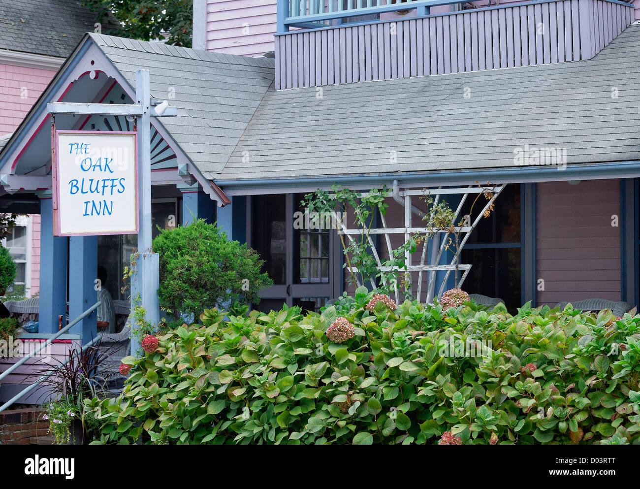 Oak Bluffs Inn, Oak Bluffs, Martha's Vineyard, Massachusetts, USA - Stock Image