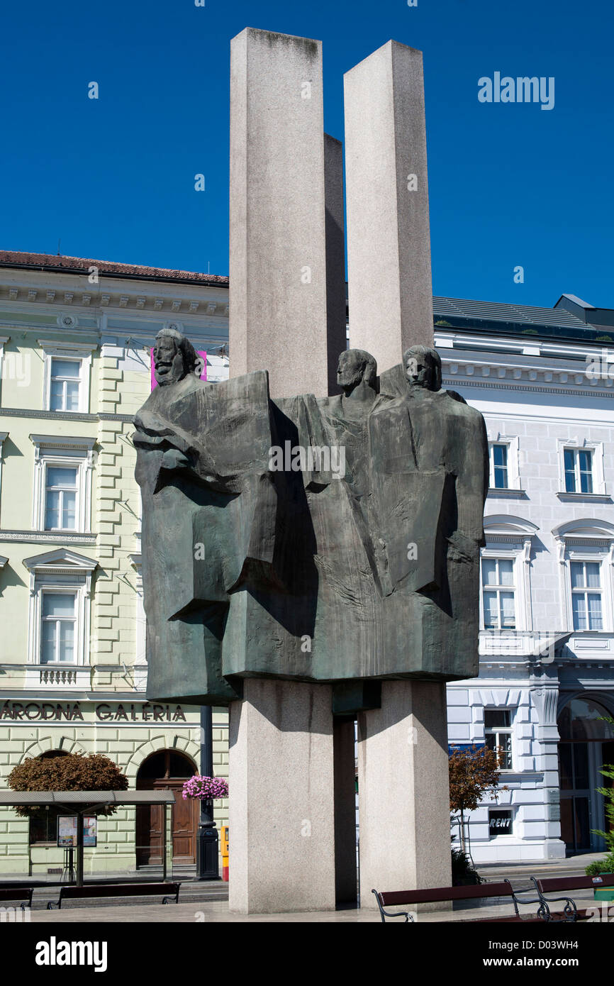 Monument in Bratislava, the capital of Slovakia. - Stock Image