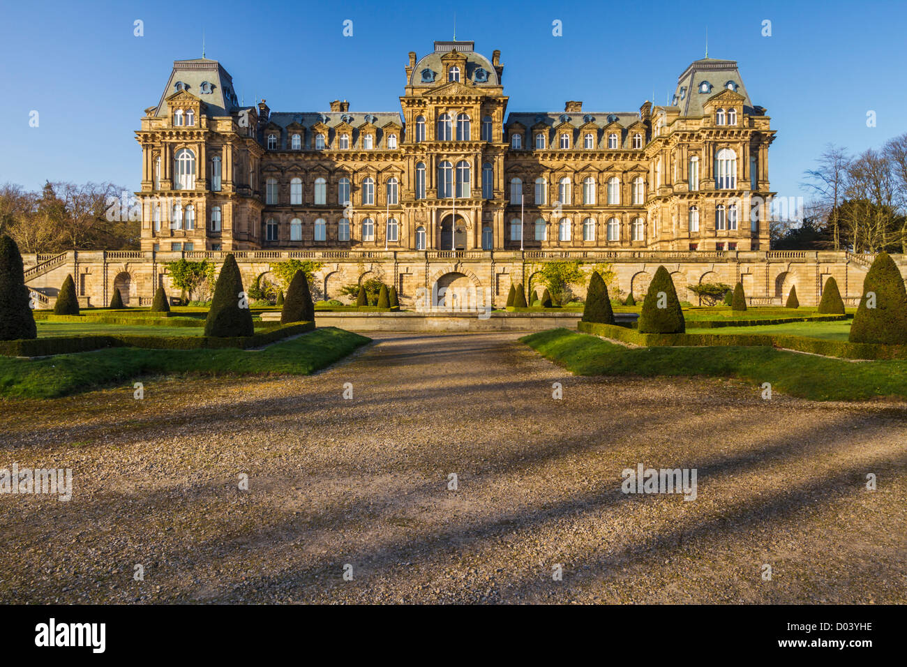 Bowes Museum in Barnard Castle, County Durham. The museum was built by John and Joséphine Bowes in the 19th - Stock Image