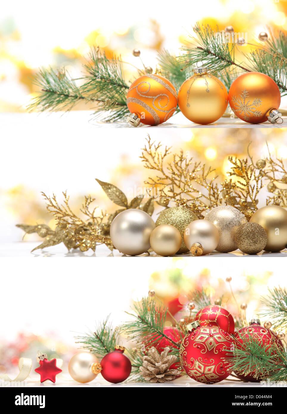 Christmas Banners.Collection Of Christmas Banners Stock Photo 51722612 Alamy