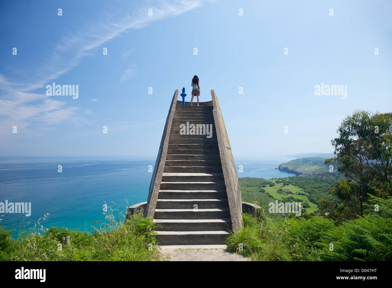 viewpoint near to Llanes village in Asturias Spain - Stock Image