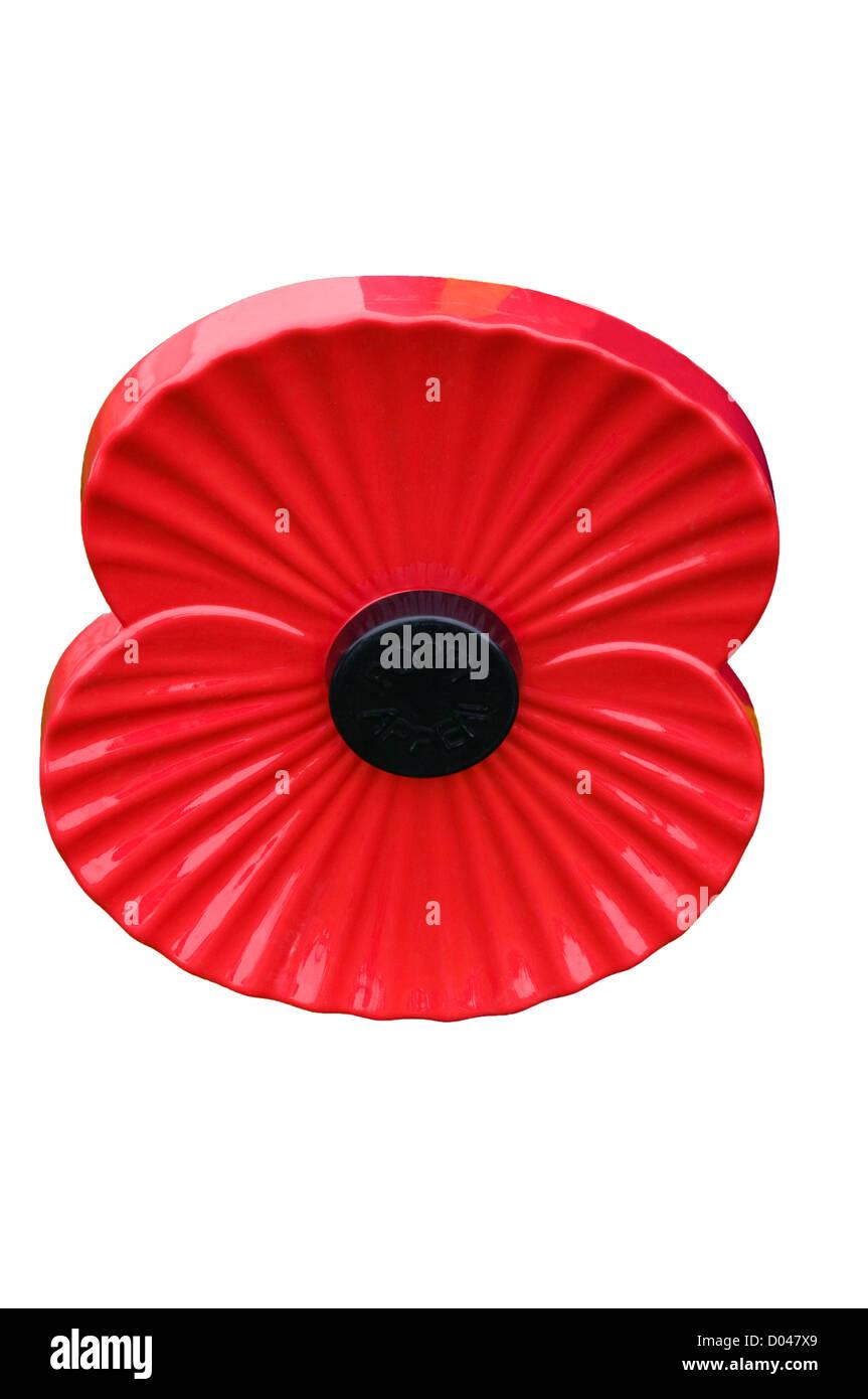Royal British Legion Poppy - Stock Image