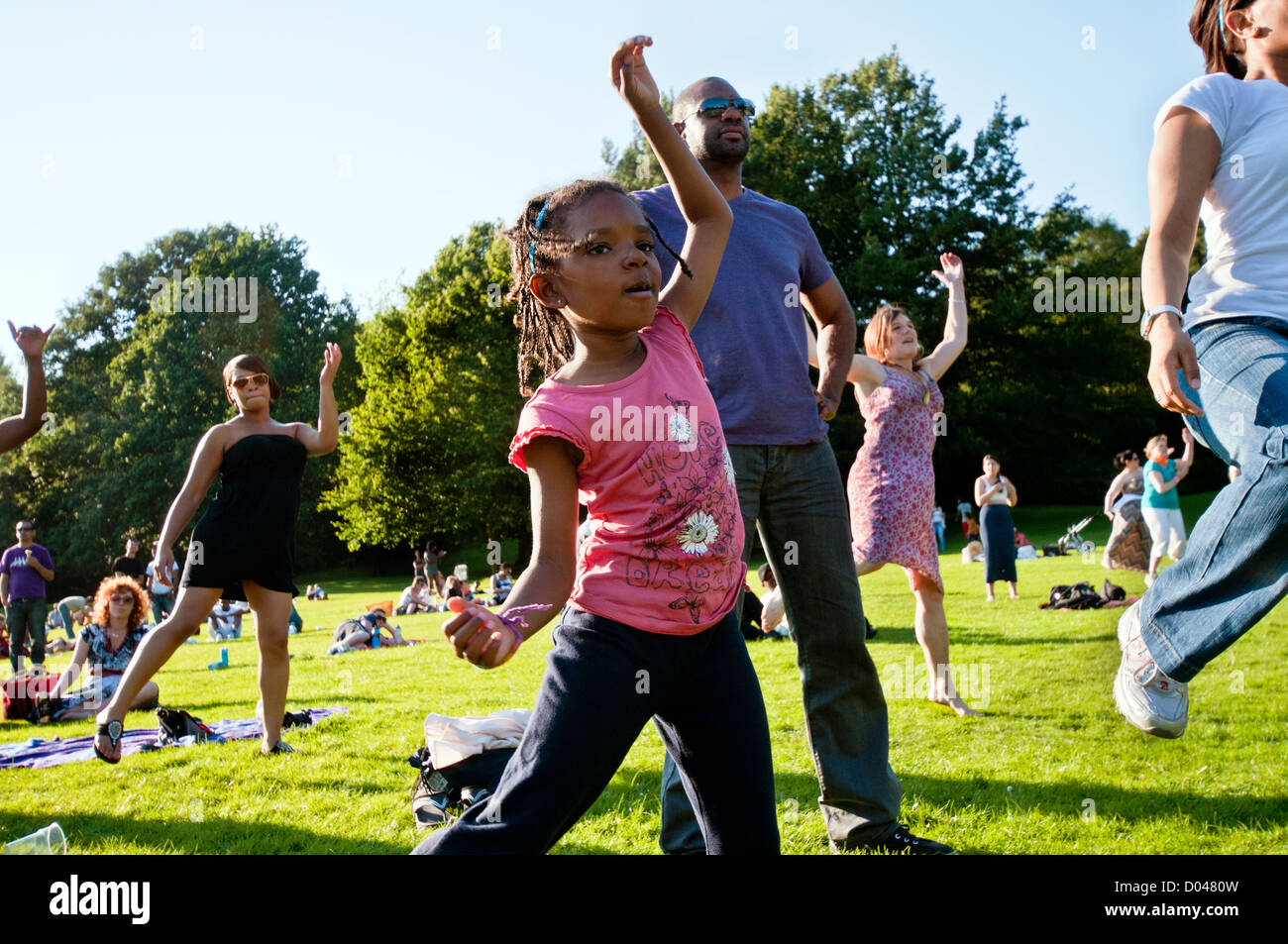 The Big Dance Carnival in Crystal Palace Park South London is part of  national  campaign to encourage people to Stock Photo