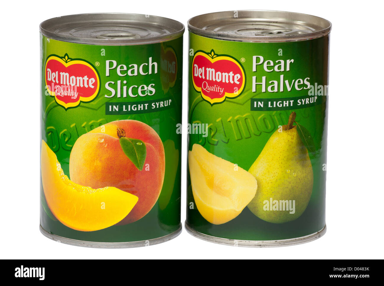 Tins Of Del Monte Tinned Fruit - Stock Image