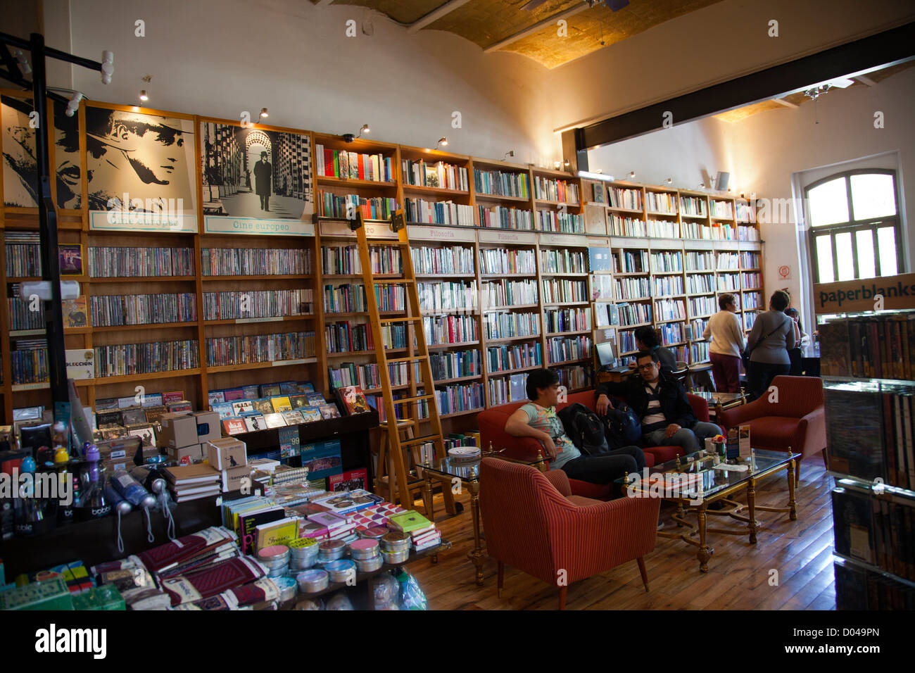 cafebreria is a mixed use bookshop music store cafe and restaurant stock photo 51726605 alamy. Black Bedroom Furniture Sets. Home Design Ideas