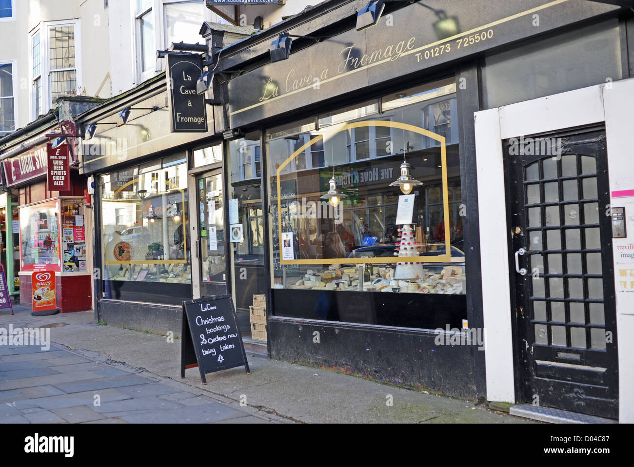 La Cave a Fromage the famous cheese shop in Hove Brighton East Sussex UK - Stock Image