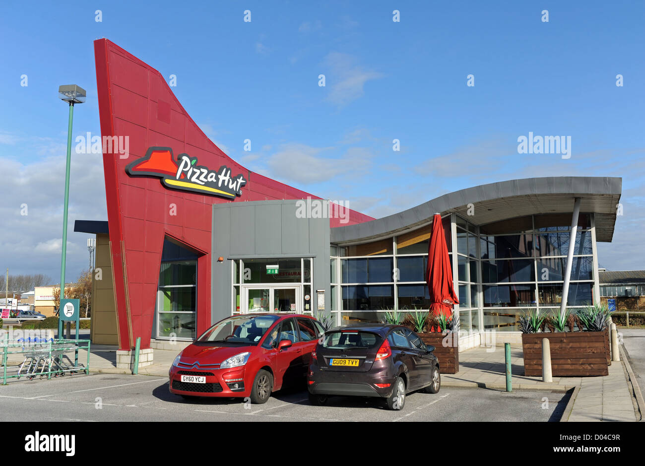 Pizzahut Fast Food Restaurant Eastbourne Sussex Exterior
