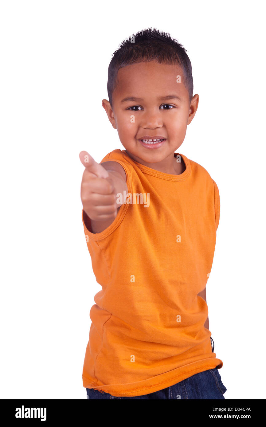 A portrait of a cute asian boy - Stock Image