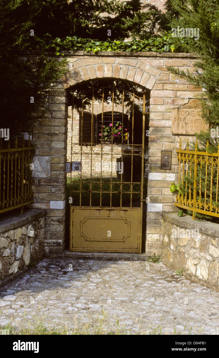 Genoa,Doorways,Door Knockers,Entrances,Gardens,Shops,Balconies,Architecture, 8-86 Digital Slide Conversions,Genoa,Liguria,Italy - Stock Image