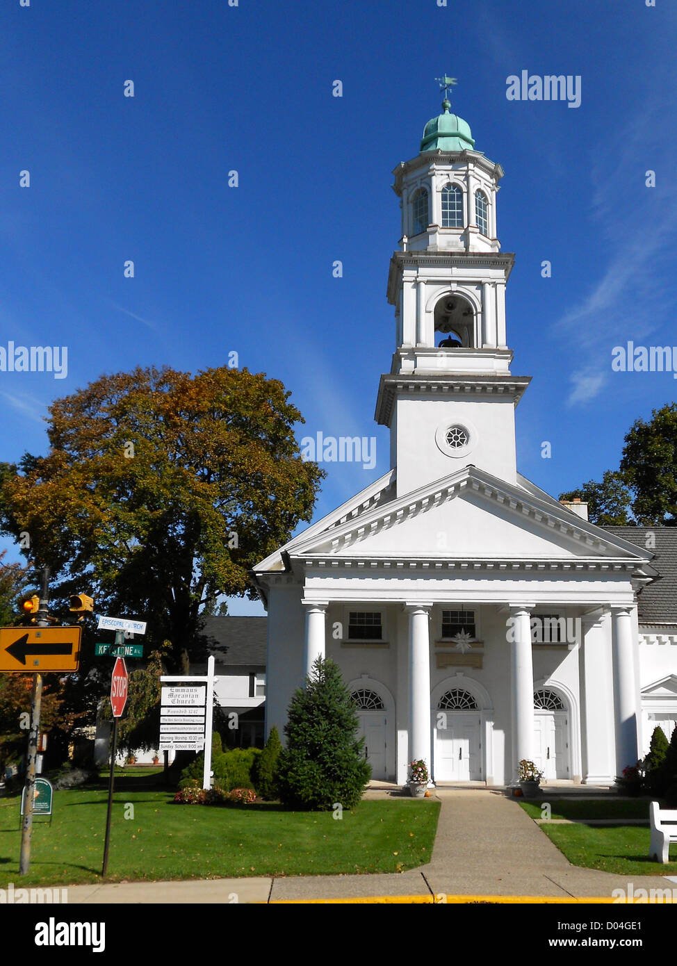 Moravian Church in Emmaus, Lehigh County, Pennsylvania - the area is a hotbed of Moravianism! - Stock Image
