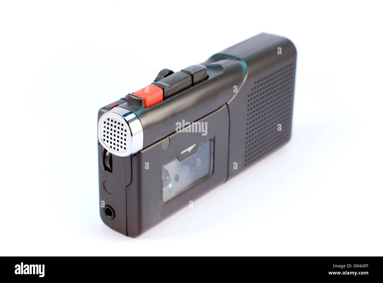 dictaphone on white backgrounds - Stock Image