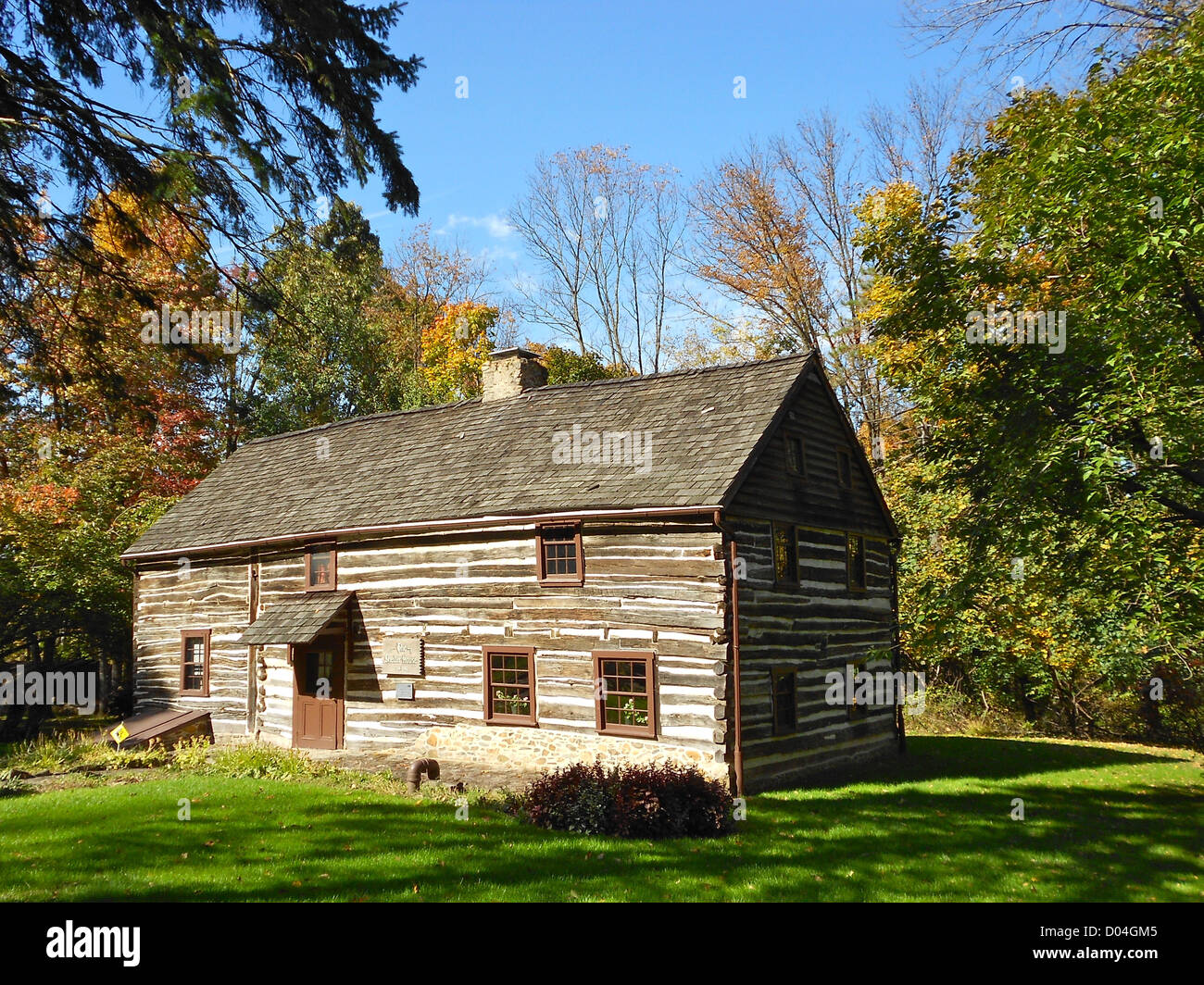 Shelter House on the NRHP since February 17, 1978. In the park near the south end of South 4th Street, Emmaus, Lehigh - Stock Image