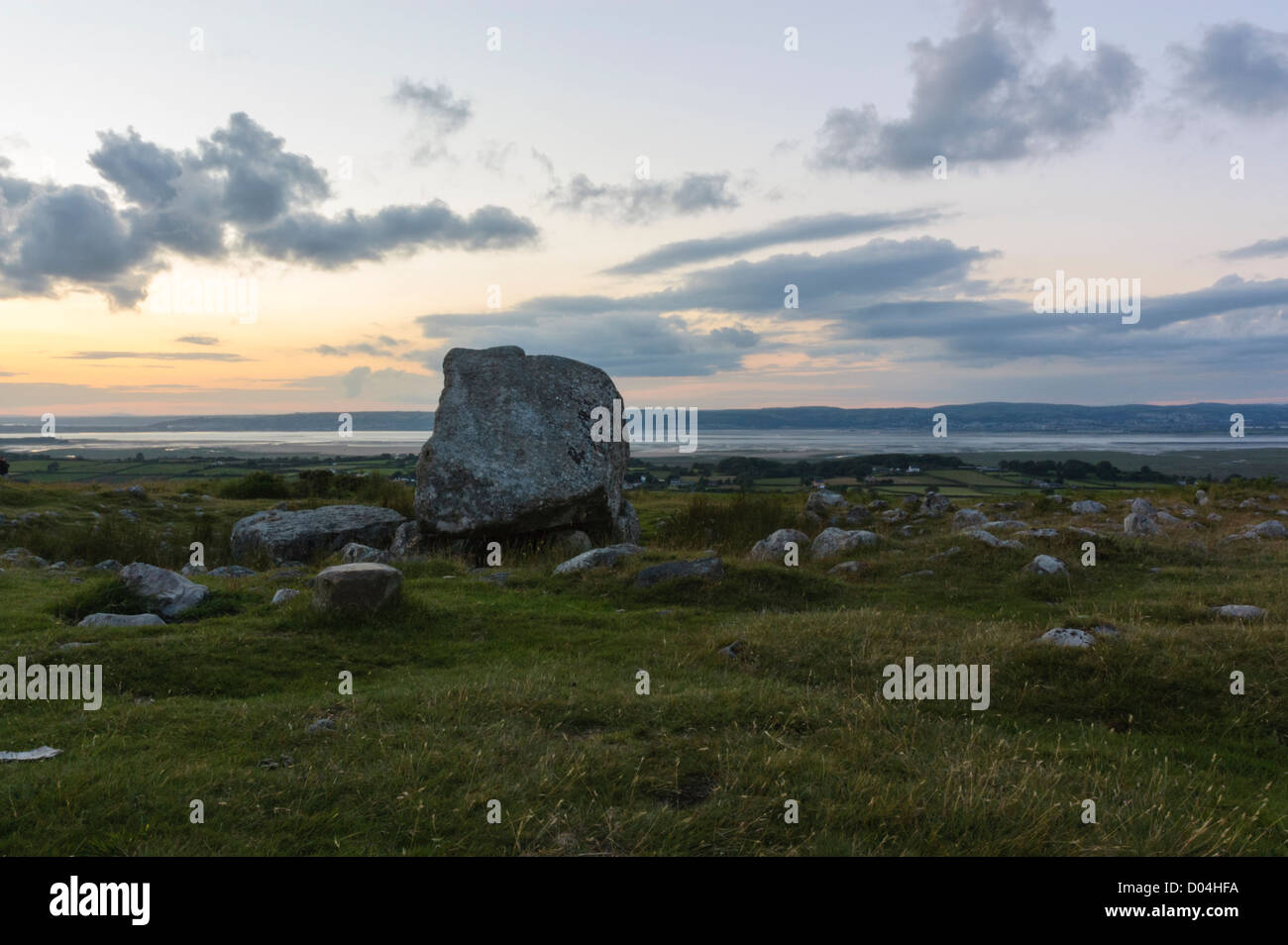 Arthur's Stone, Maen Ceti in Welsh, possibly a neolithic chambered tomb, on Cefn Bryn in Gower, South Wales, - Stock Image