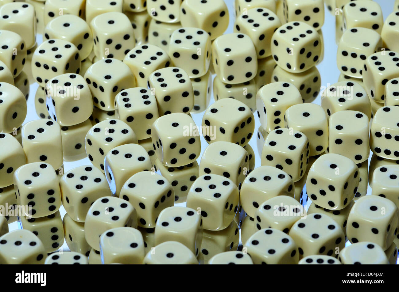 Dice - random numbers - Stock Image