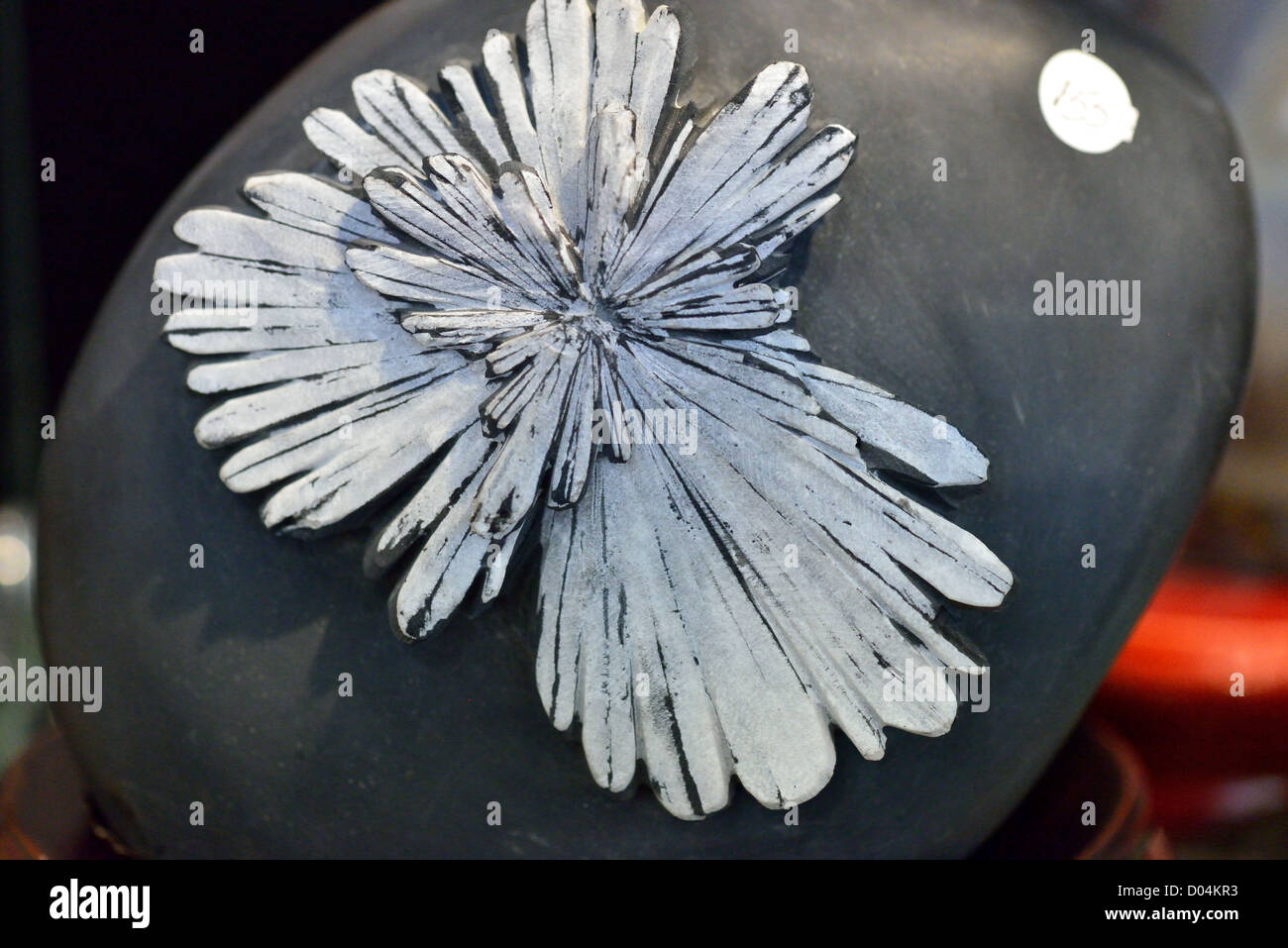 Specimen of chrysanthemum stone, an aggretage of mineral celestine from Liuyang, Hunan Province, China. Stock Photo