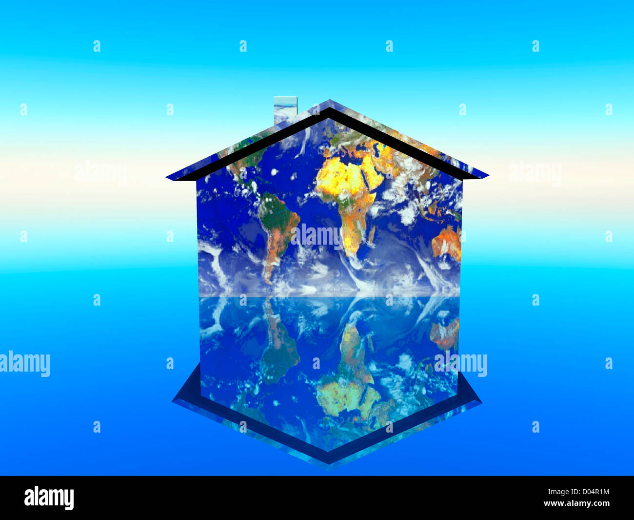 illustration of globalization - Stock Image