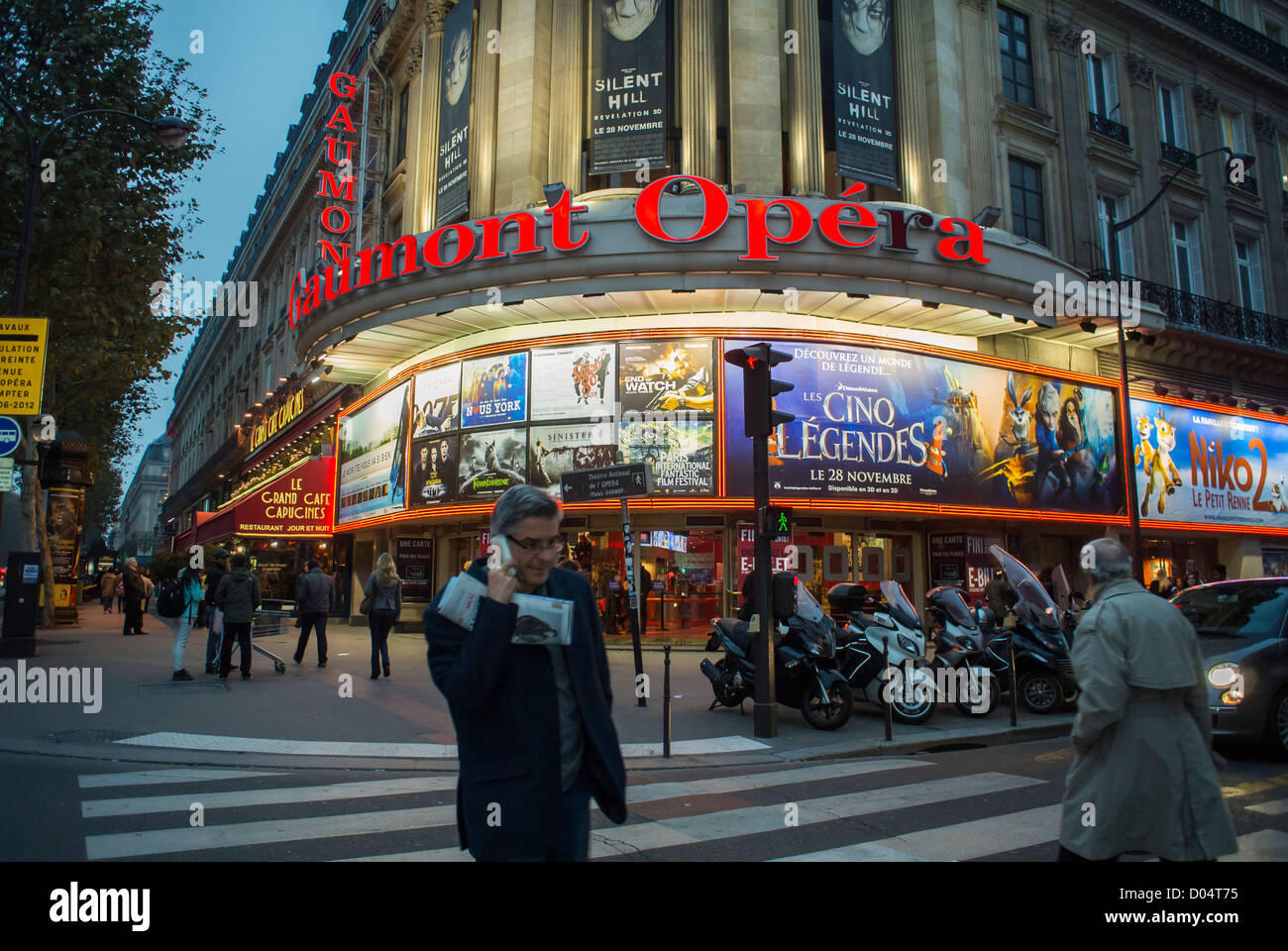 "Paris, France, French Cinema Theater, ""Gaumont Opera"", Front of"