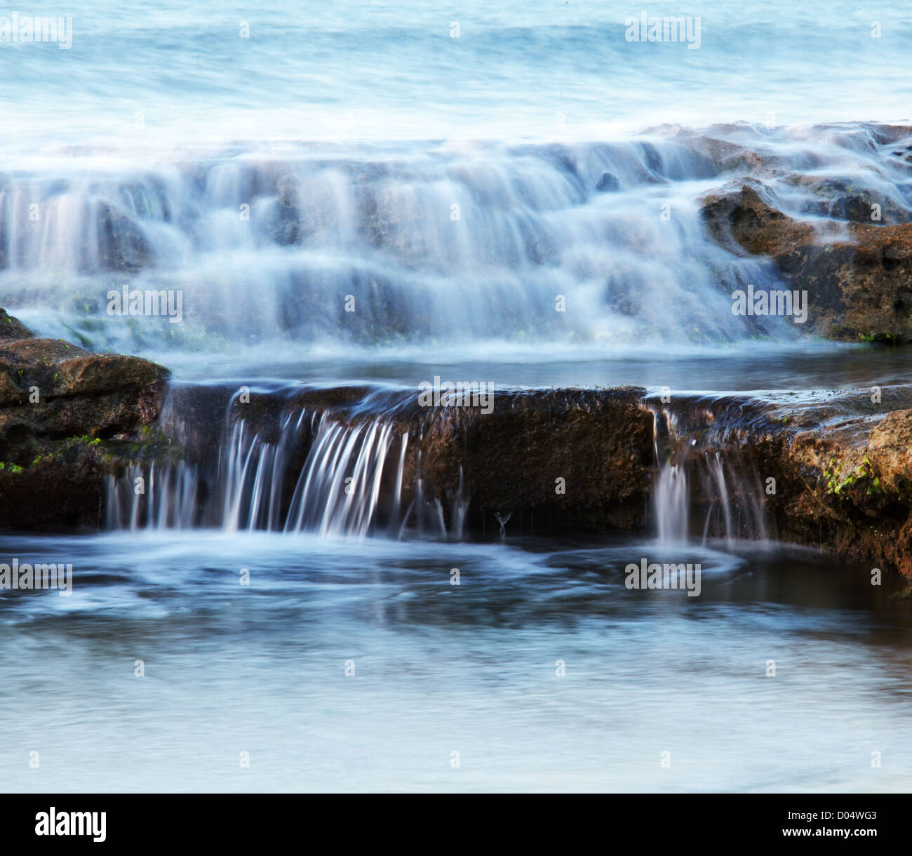 Water cascade - Stock Image