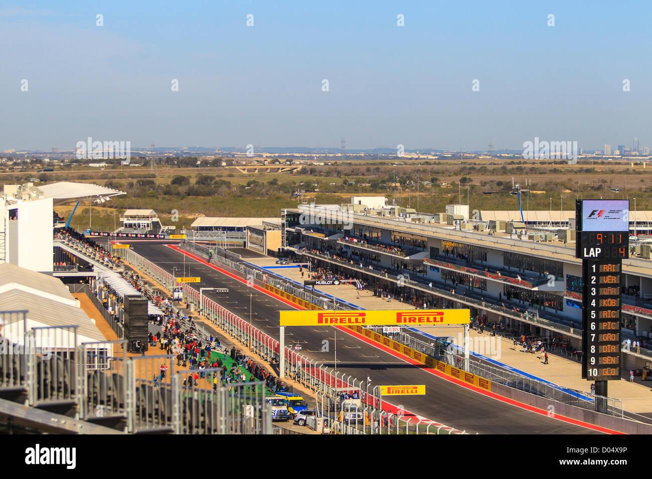 Circuit of the Americas, Austin, Texas, Formula 1 - Stock Image