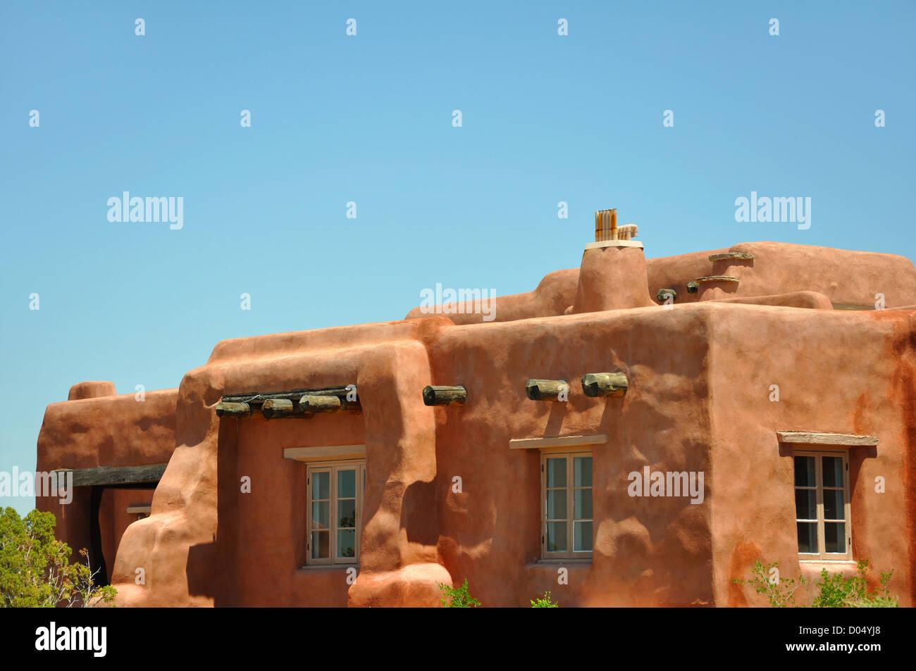Adobe style house, Arizona, USA - Stock Image