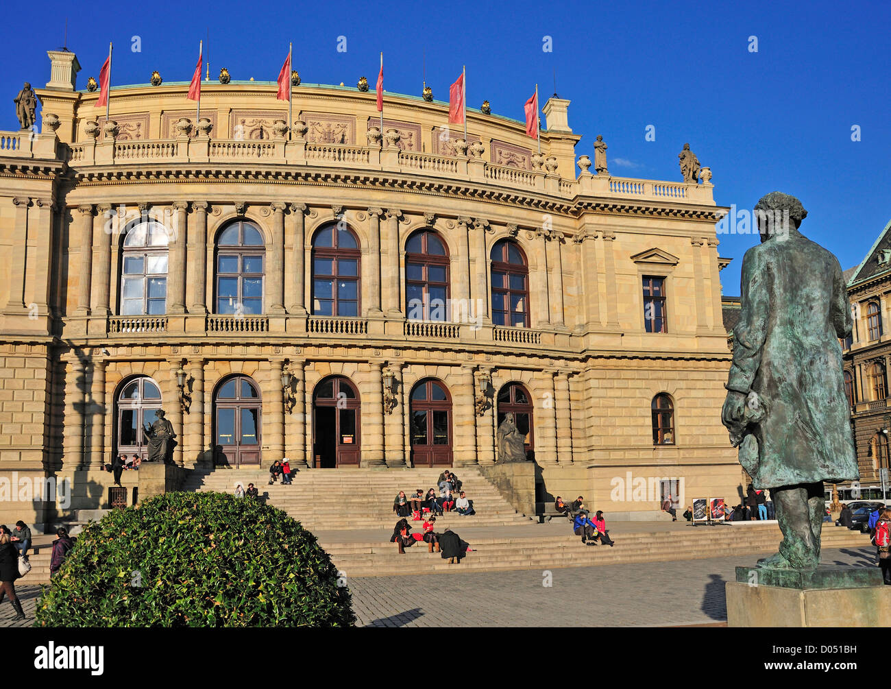 Prague, Czech Republic. Rudolfinum (Josef Zitek; 1875-84. neo-Renaissance) Concert hall - Stock Image