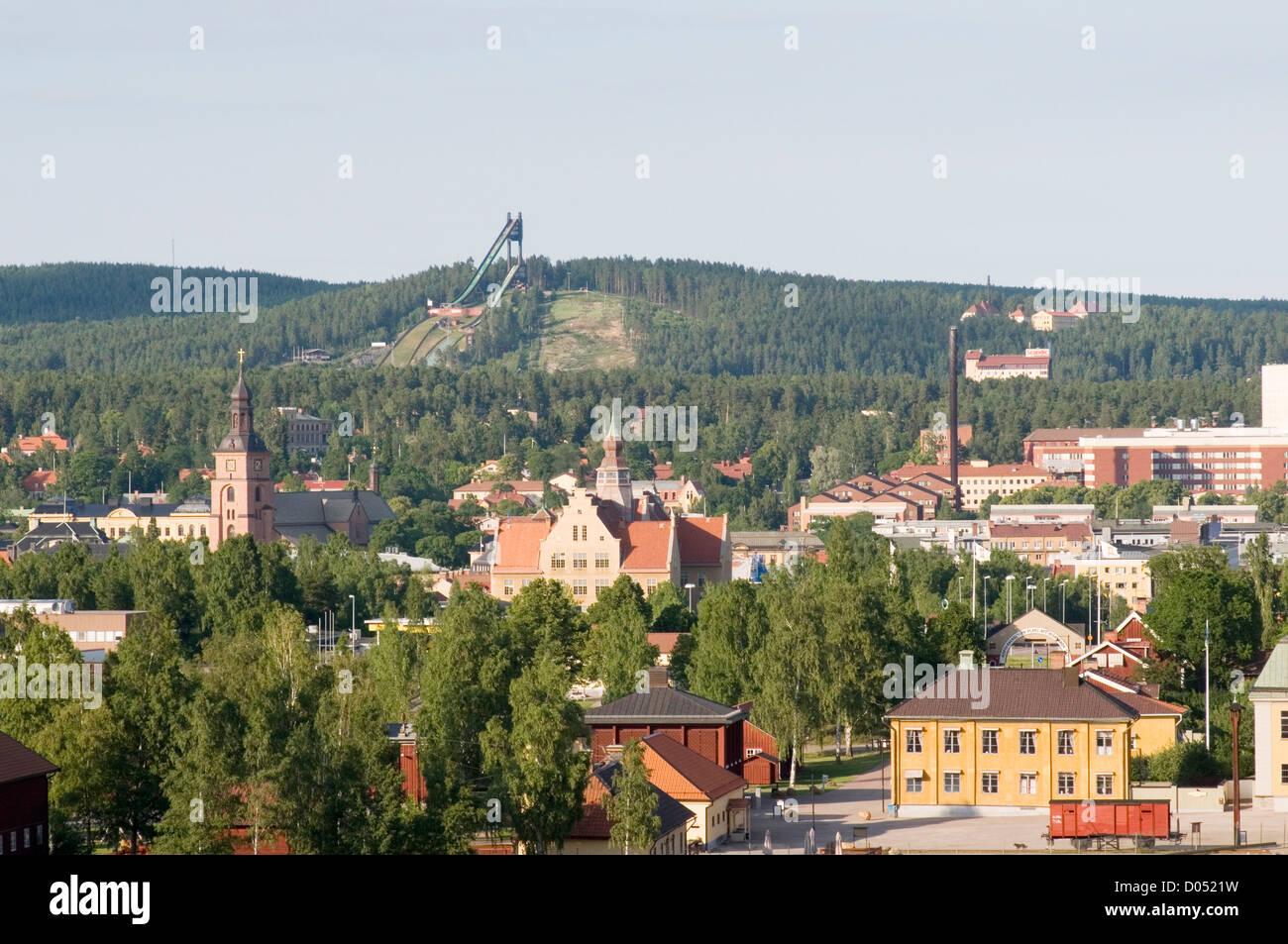 Falun Municipality in Dalarna County, Sweden swedish town city - Stock Image