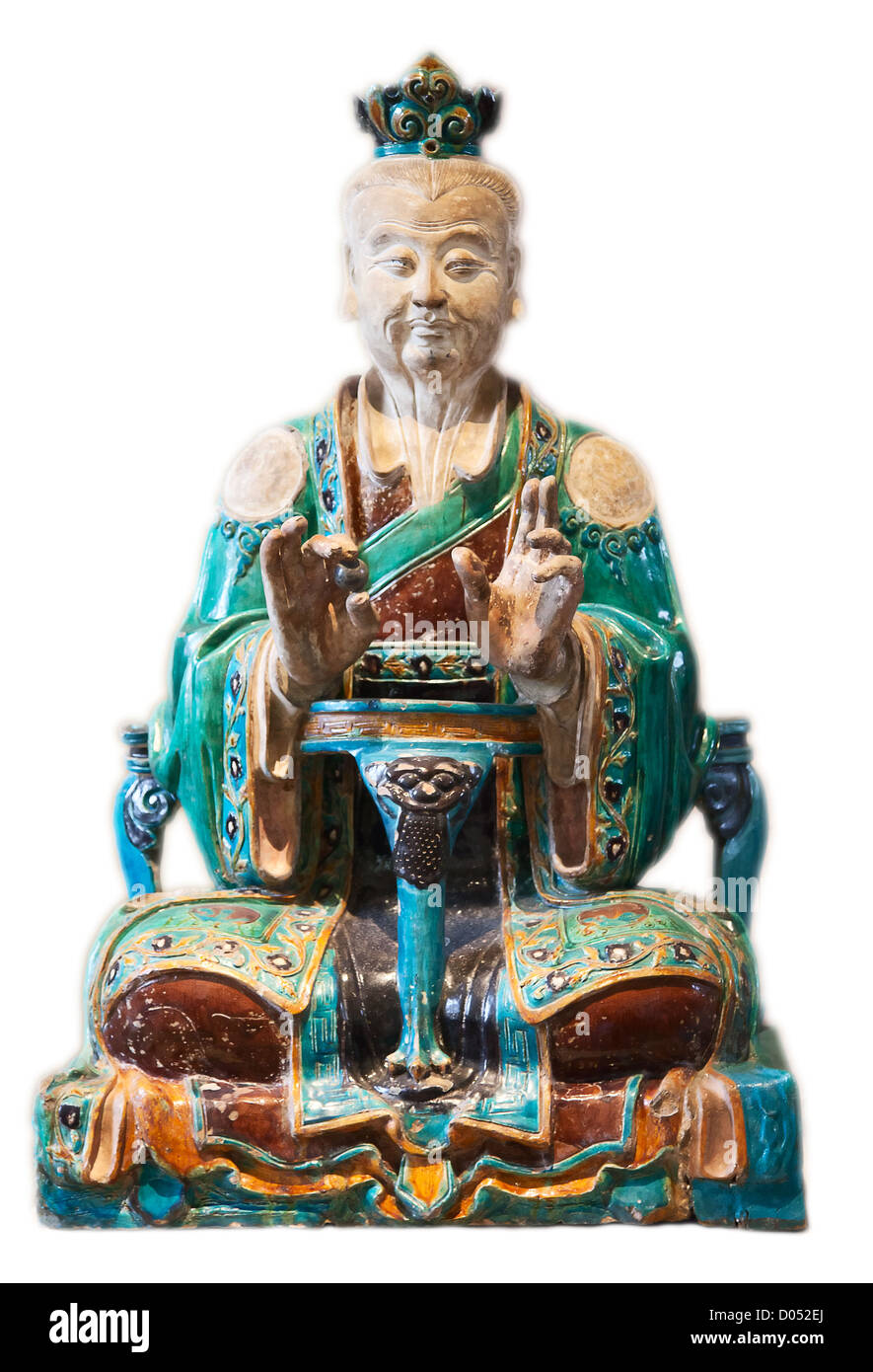 Classical chinese statue of Confucius - Stock Image