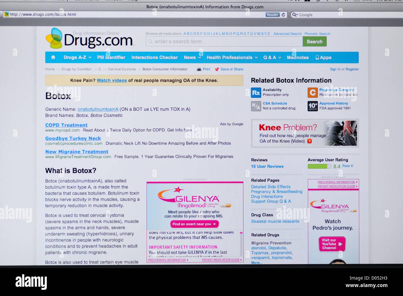 Drugs com website - online drug information Stock Photo: 51742911