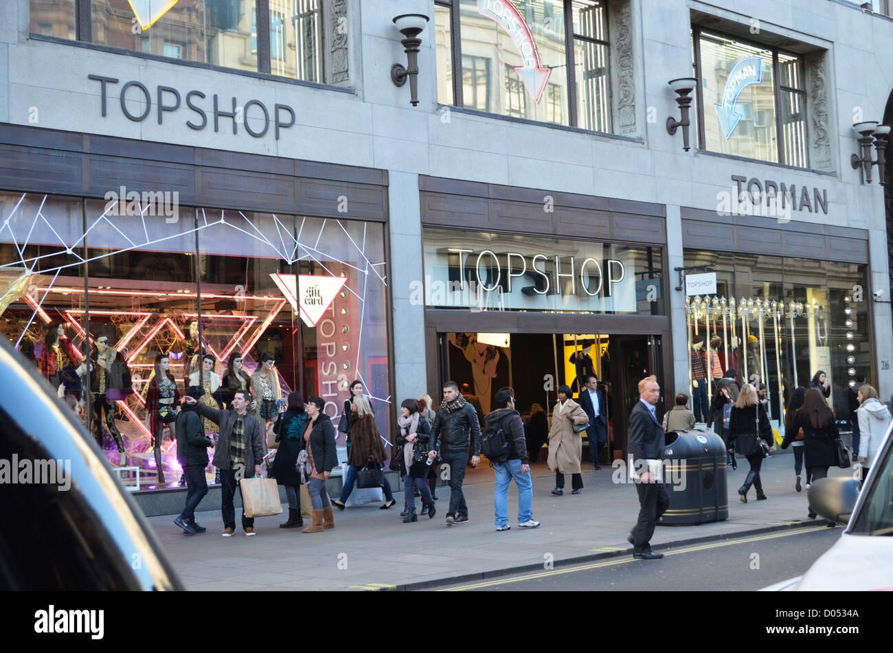 Topshop Oxford street - Stock Image