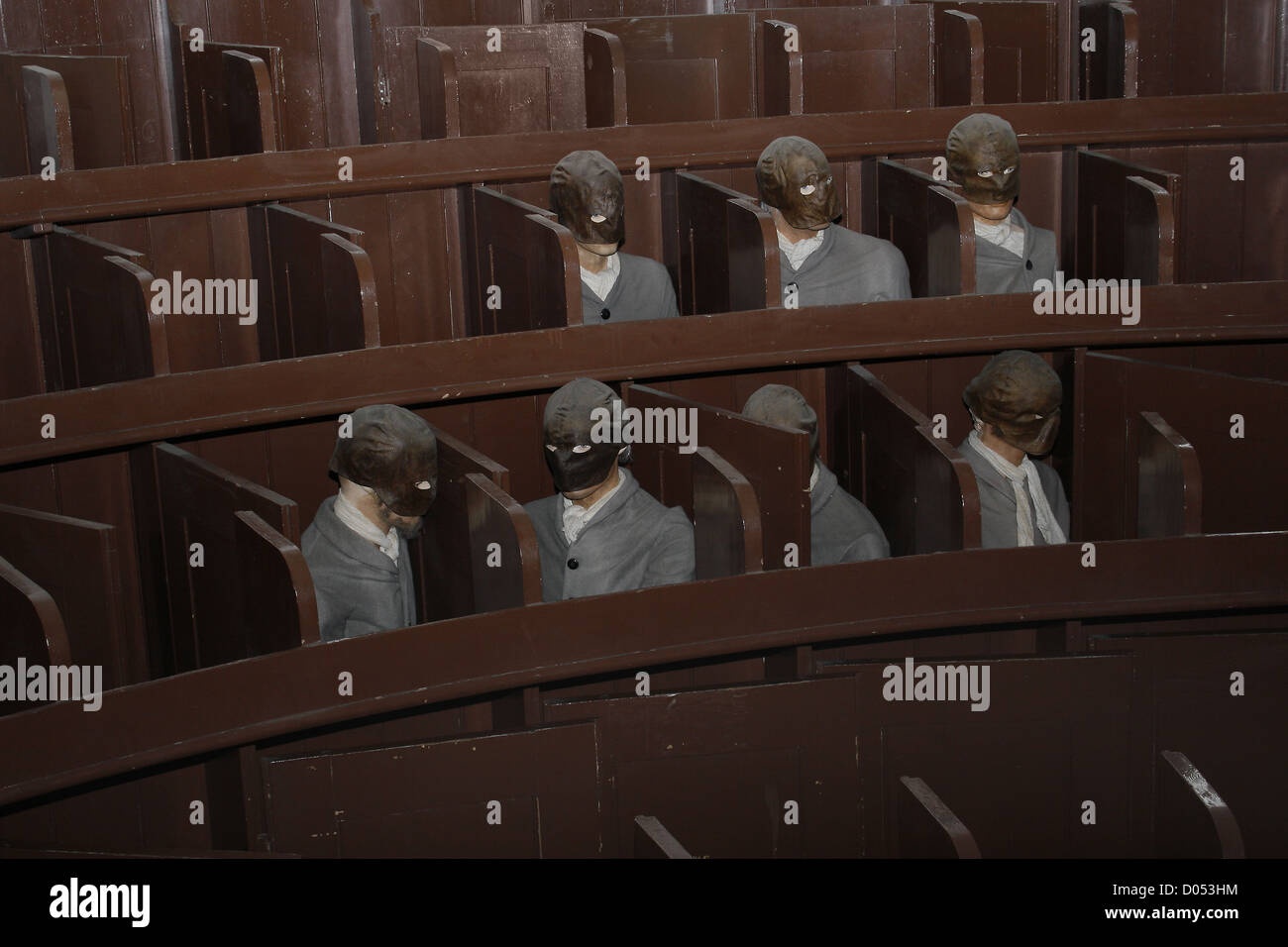 dummies in Lincoln Castle prison, Lincoln, Lincolnshire, England, UK - Stock Image