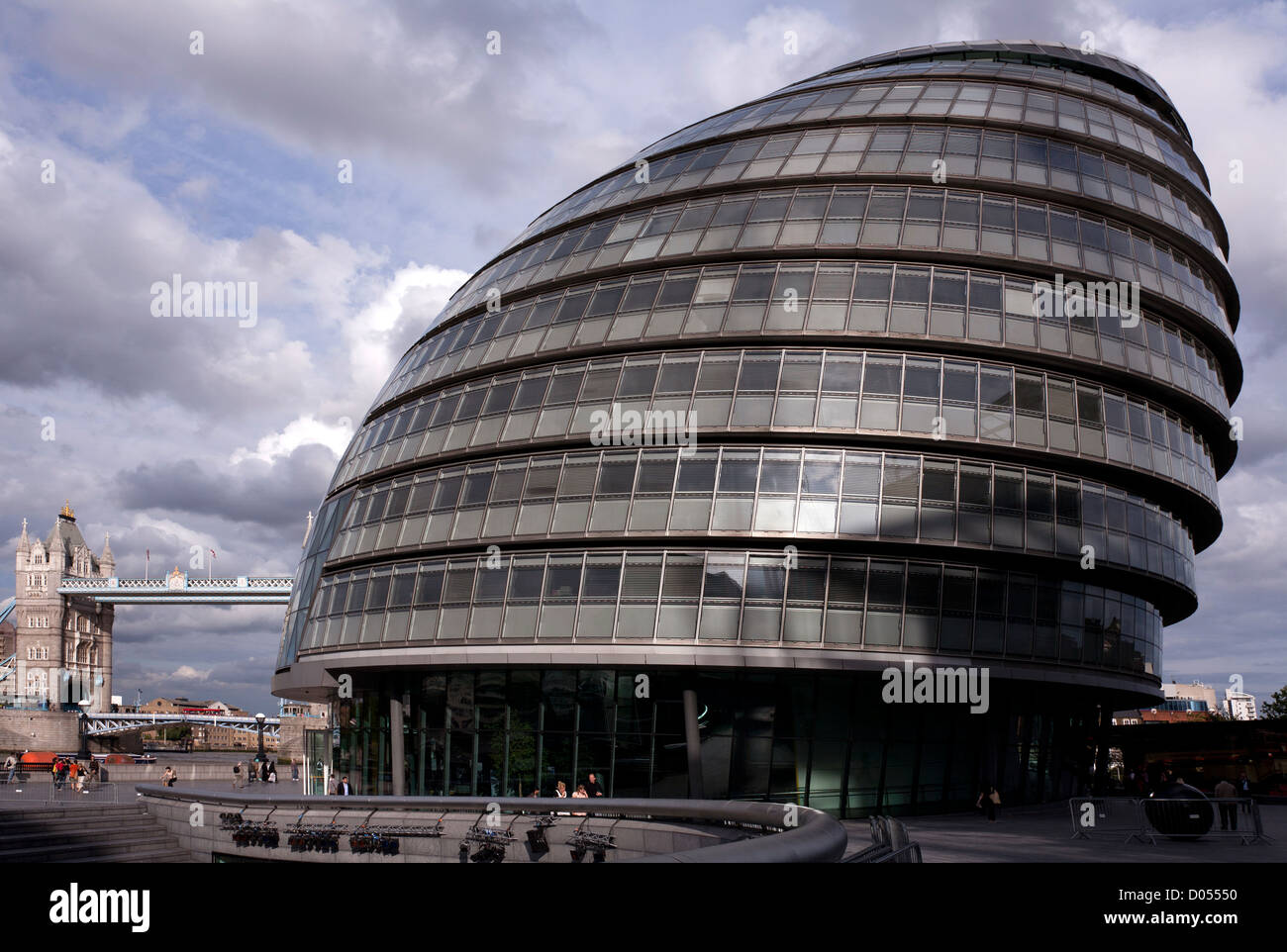 City Hall is the headquarters of the Greater London Authority and was designed by  the famous architect Norman Foster. - Stock Image
