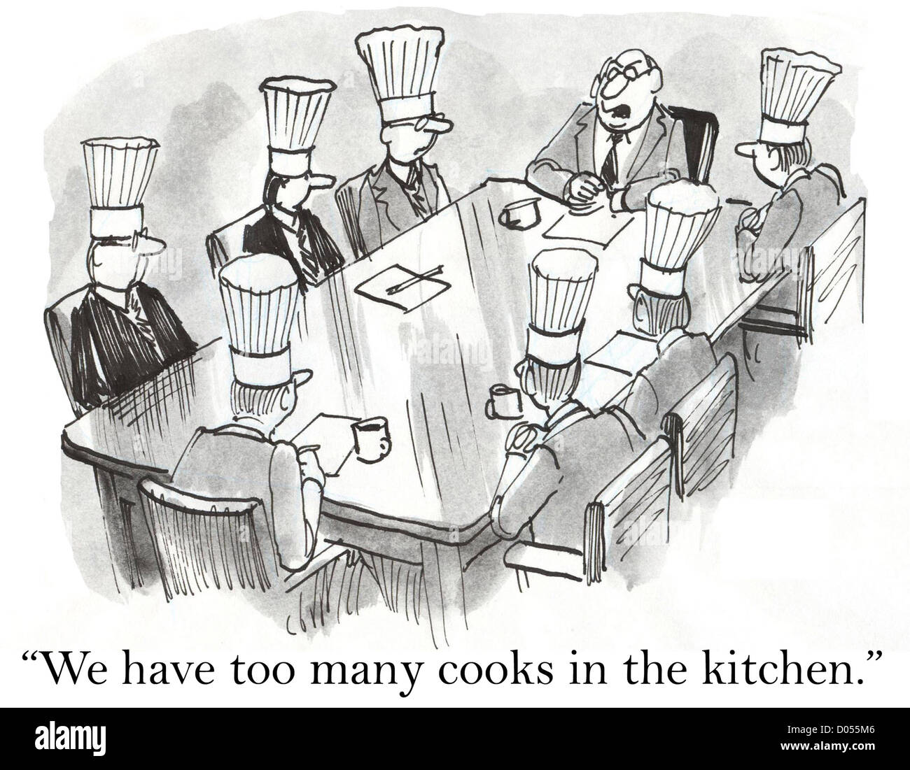 We have too many cooks in the kitchen Stock Photo: 51745350 - Alamy