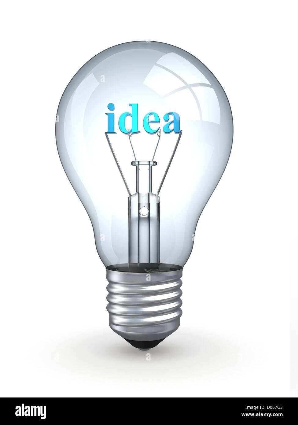 Lit Light Bulb Three Stock Photos Diagram Of The Incandescent How Flourescent 1 Image