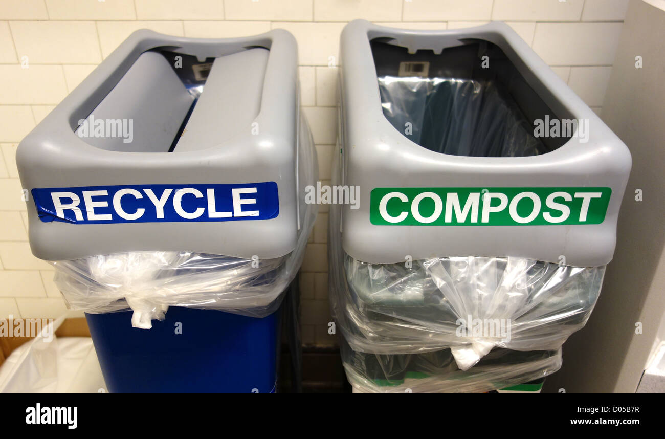 Recycle Compost at Work - Stock Image