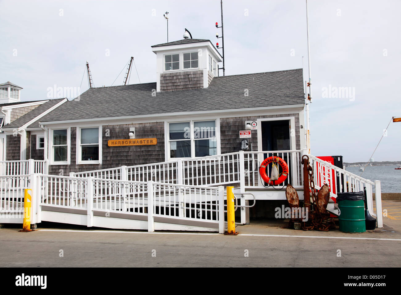 Harbourmaster house, Provincetown, Cape Cod, Massachusetts, America - Stock Image