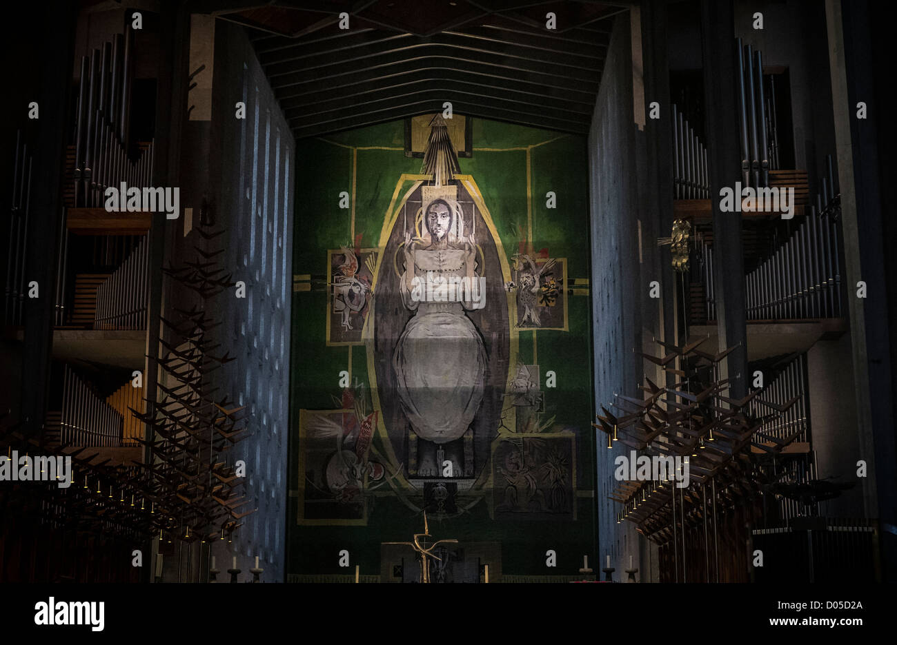 Part of the Graham Sutherland Tapestry in Coventry Cathedral, West Midlands, UK. - Stock Image