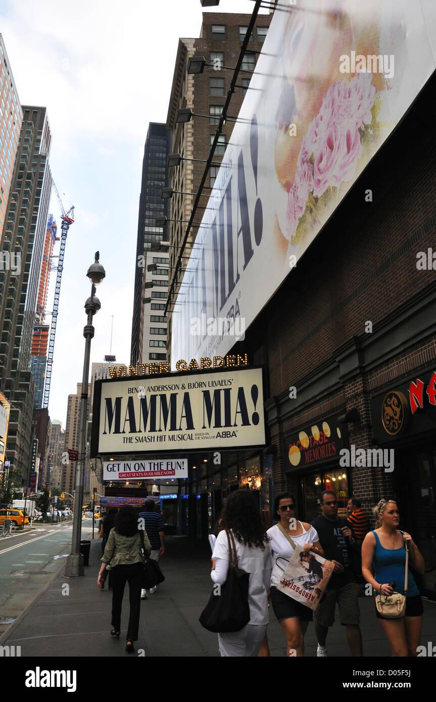 mamma mia show at the winter garden theater new york city usa - Winter Garden Theater Nyc