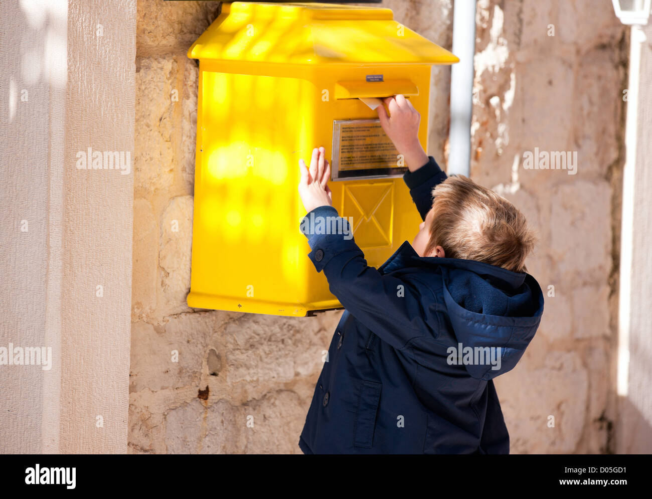 Boy Post Box Letter Stock Photos  Boy Post Box Letter Stock Images