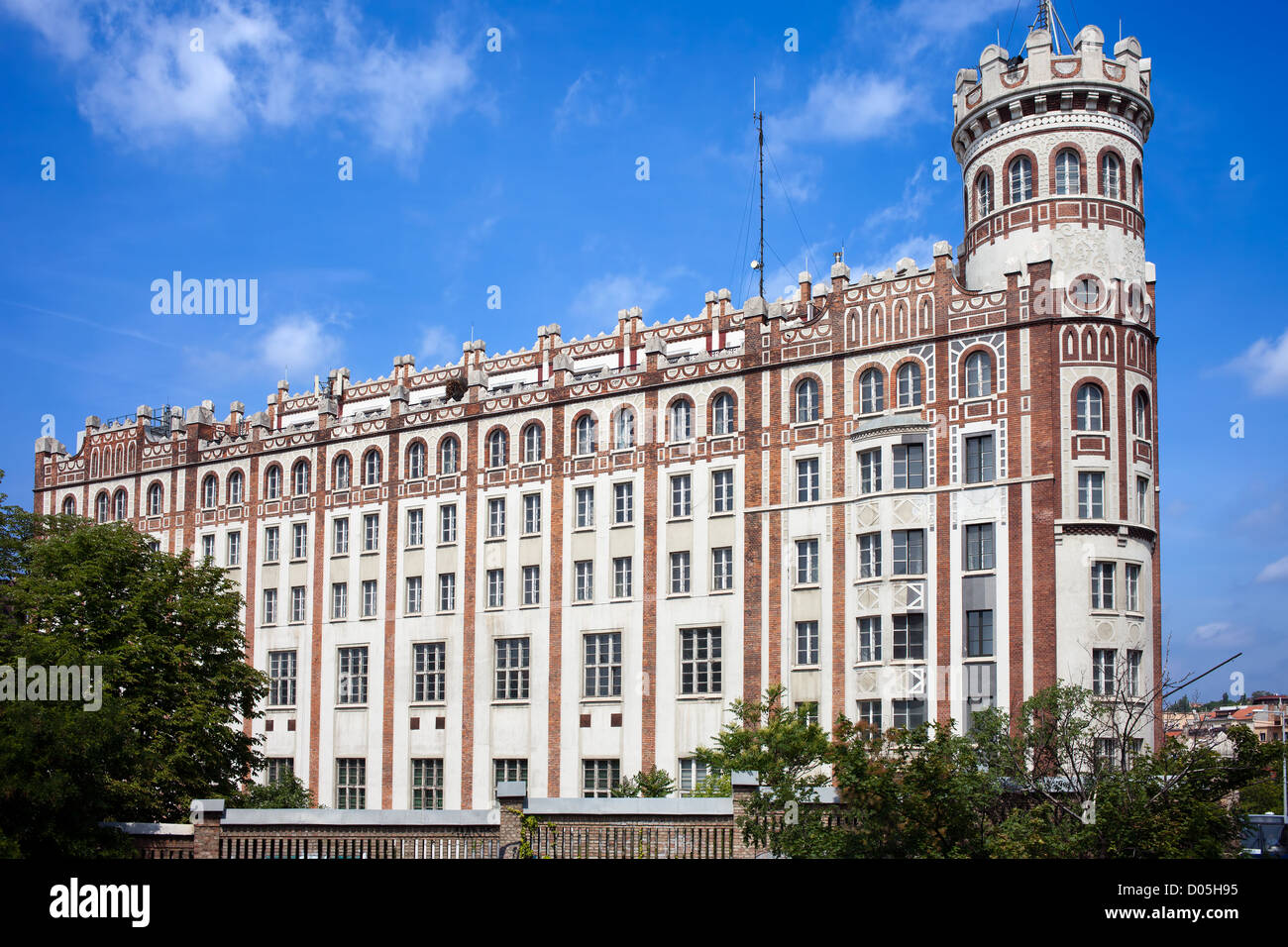 Postal Palace (old post office building) from 1921 at Szell Kalman ter (Moszkva ter) in Budapest, Hungary. - Stock Image