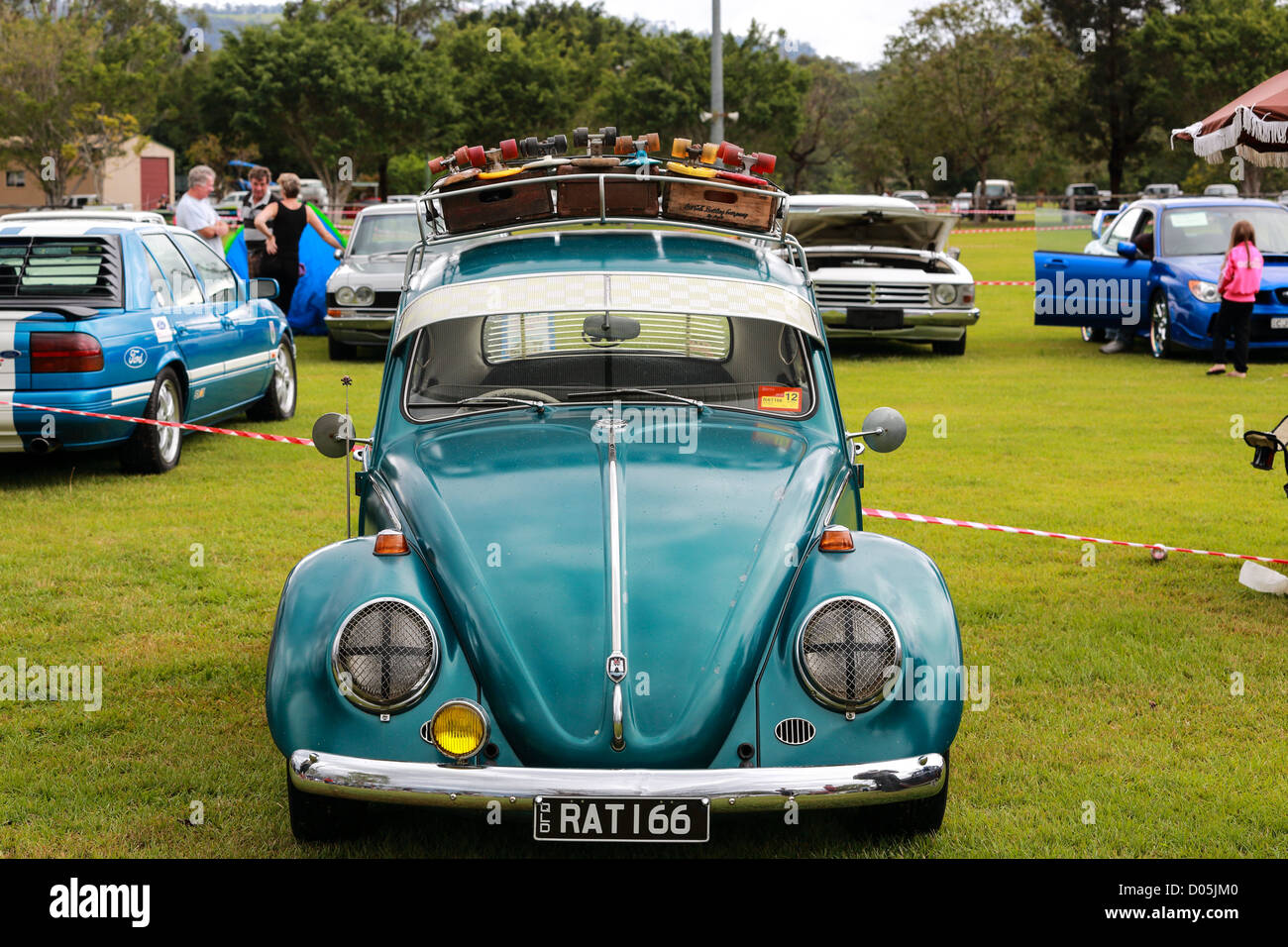 Early 60s' VW on display known as the beetle a classic car has a wide following at the Gold Coast Car Show - Stock Image