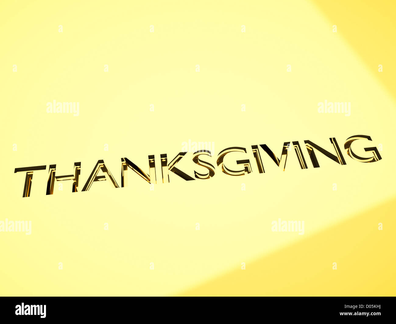 Thanksgiving Message In Engraving Celebrations Stock Photos