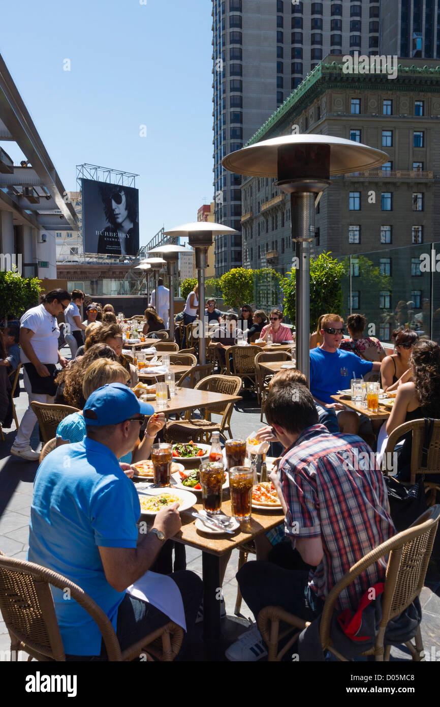 San Francisco Union Square Public Park Macys Rooftop Café