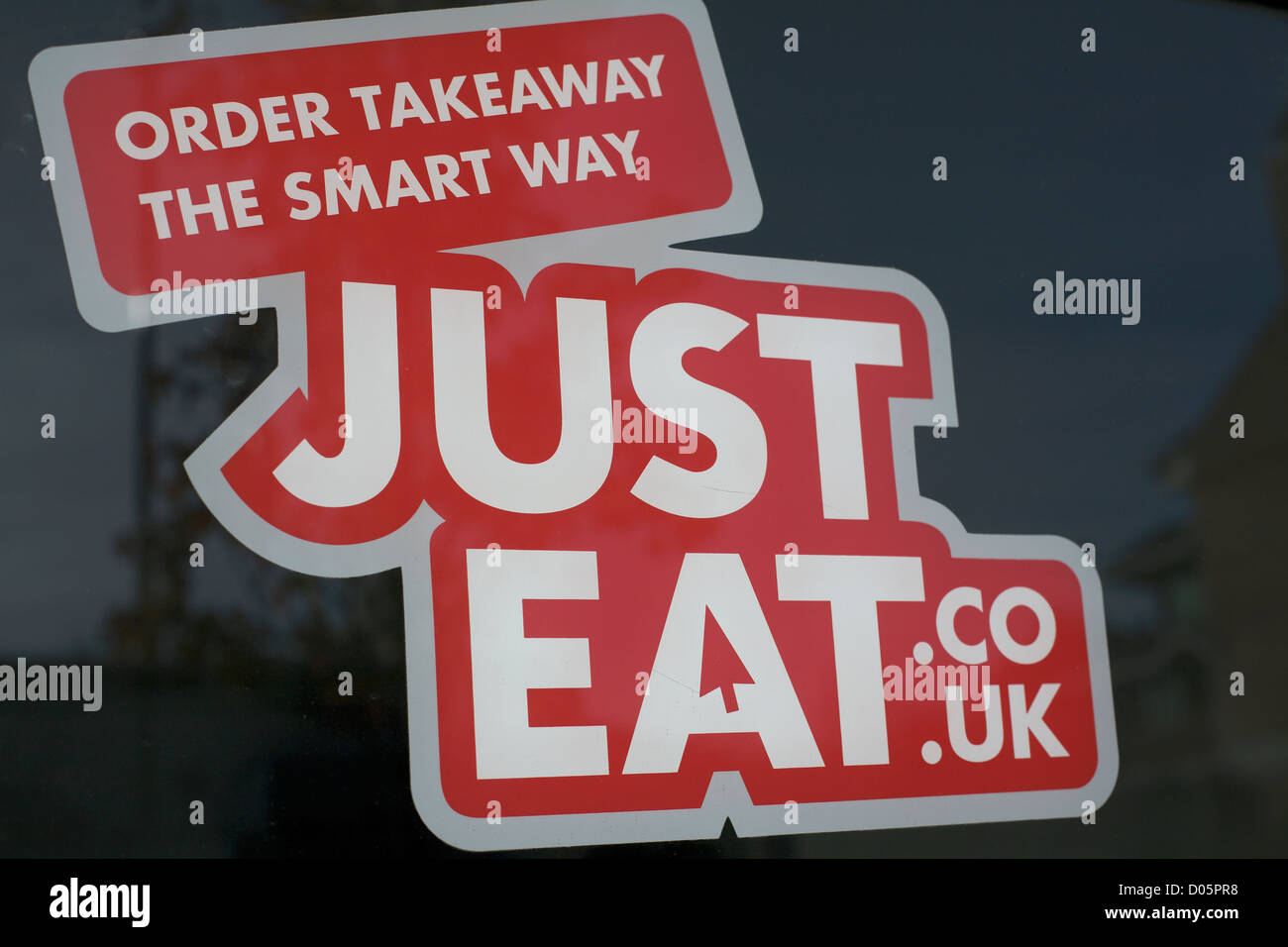 Red Sign On Shop Window Order Takeaway The Smart Way Justeat