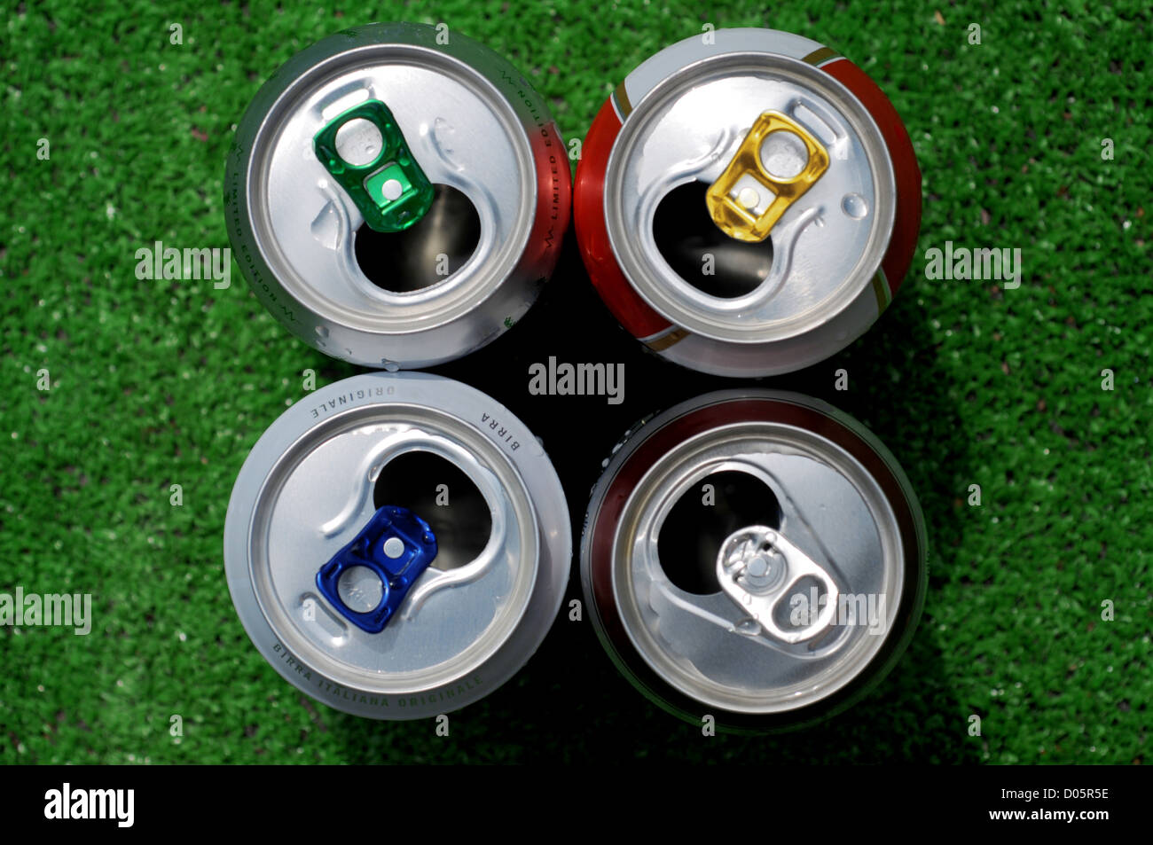 four cans of beer - Stock Image