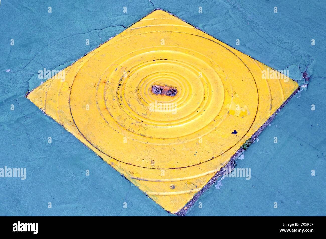 iron manhole water - Stock Image