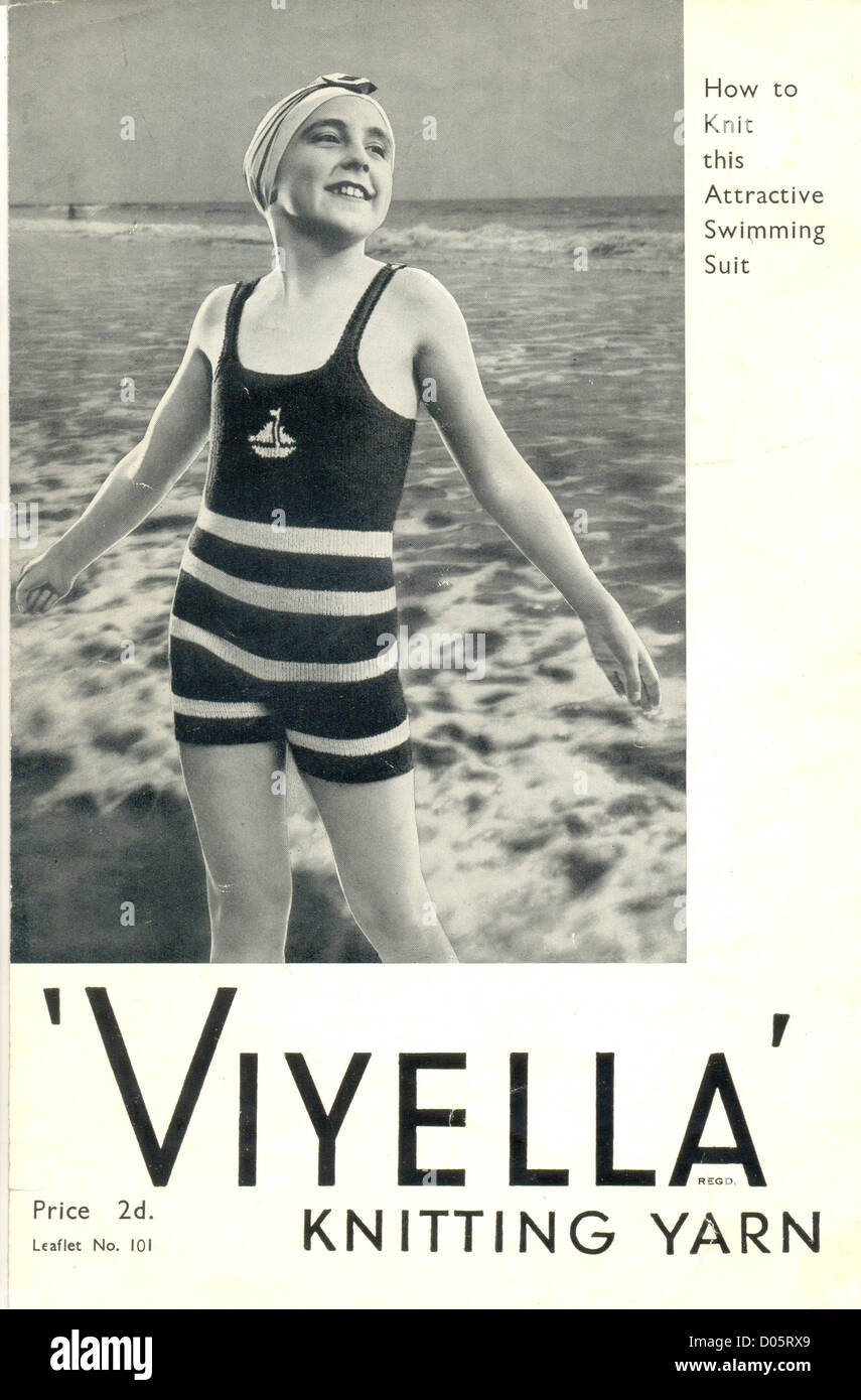 Viyella Pattern For Knitted Swimming Suit Stock Photo 51759633 Alamy