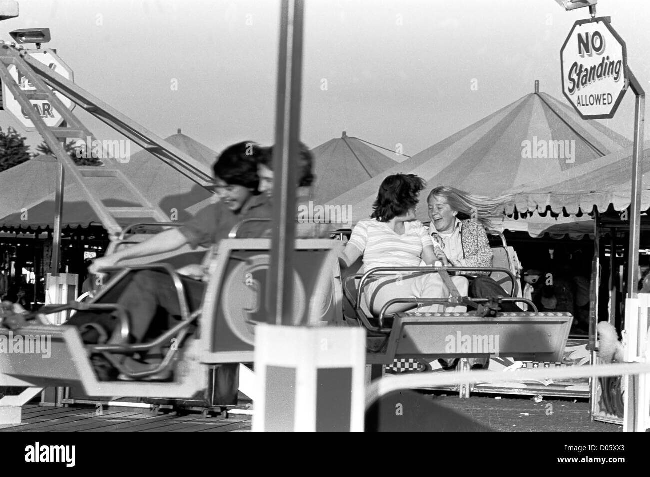 One of 25 pictures taken in 1977 and 1979 of the funfair that came to the Oval in Hastings most years. - Stock Image