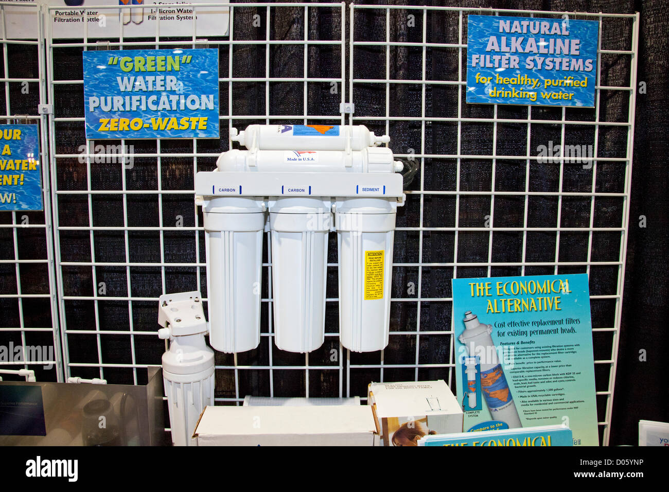 Los Angeles, California, USA. 17th November 2012. Reverse Osmosis water filtration system. The Los Angeles Green - Stock Image